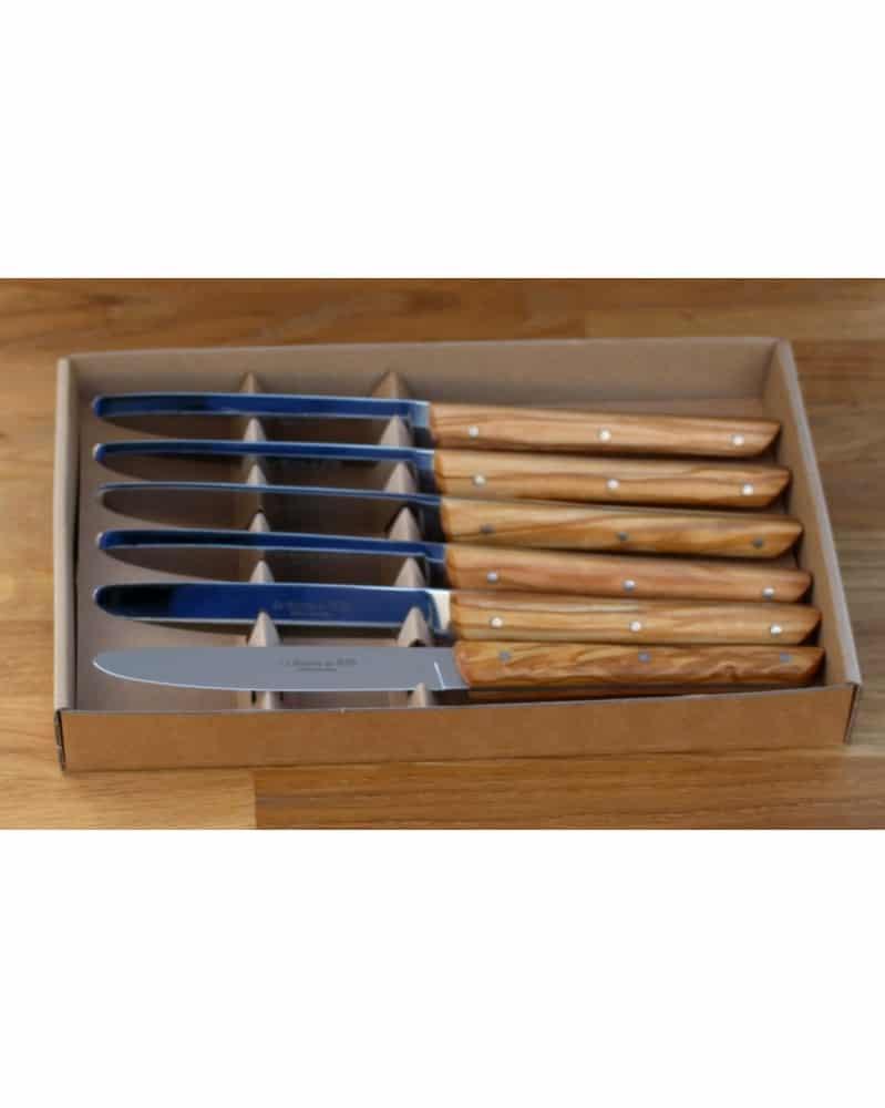 couteau a viande manche palissandre couteaux de thiers. Black Bedroom Furniture Sets. Home Design Ideas