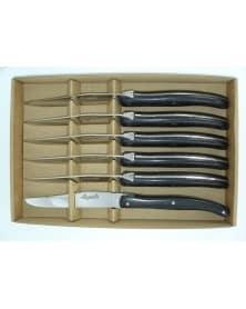Coffret de 6 couteaux Le Thiers , manche olivier